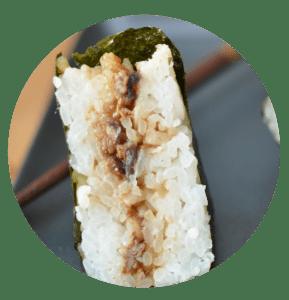 Nos onigiris sont garnis selon votre palais