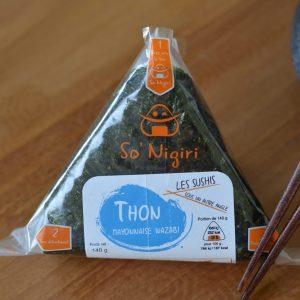 Onigiri au thon sauce mayonnaise au wazabi - pour un repas végétarien / vegan