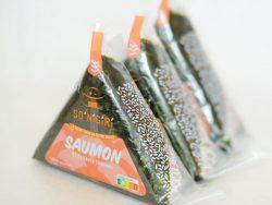 Trio d'onigiris au saumon sauce teriyaki