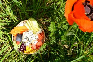 Déjeuner dans l'herbe Poke Bowl