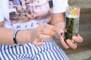 Déjeuner sur le pouce avec un Sushi Burritos Saumon
