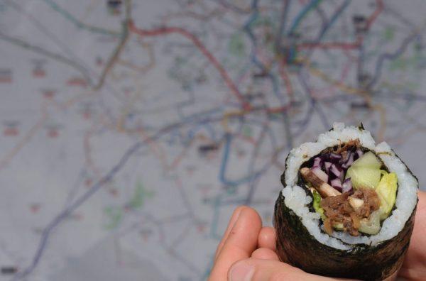 Sushi Burrito Effiloche De Bœuf Marine