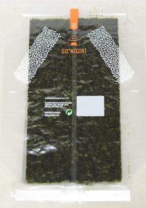 Une feuille d'algue Nori
