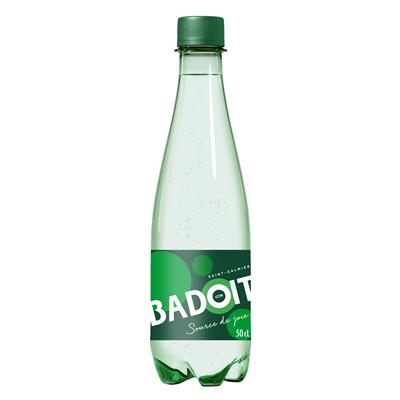 Photo de bouteille d'eau gazeuse Badoit